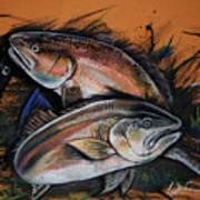 Redfish Frenzy Art Print