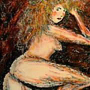 Redhead Dancer Art Print