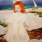 Redhead On Beach Art Print