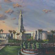 Redlands Temple Art Print