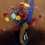 Redon: Wild Flowers, C1912 Art Print
