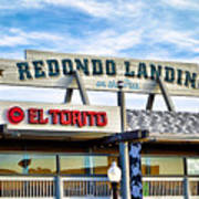 Redondo Beach Pier Closeup Art Print