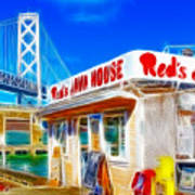 Red's Java House Electrified Art Print