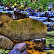 Reeder Creek From Under The Bridge Art Print