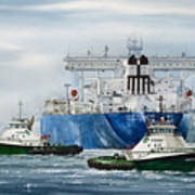 Refinery Tanker Escort Art Print