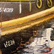Reflecting Boat  Art Print