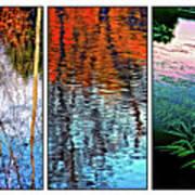 Reflecting On Autumn - Triptych Art Print