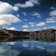 Reflecting On Crater Lake Art Print