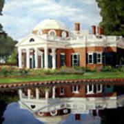 Reflecting On Jefferson Art Print