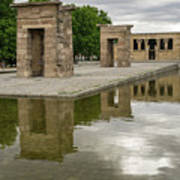 Reflecting On Millennia - Egyptian Temple Of Debod In Madrid Spain  Art Print