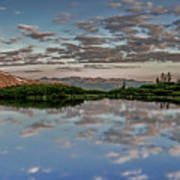 Reflection In A Mountain Pond Art Print