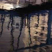 reflection in Eilat marina Art Print