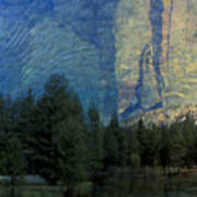 Reflection In The Merced River Art Print