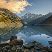 Reflection Of Aoraki Art Print