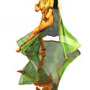 Reflection Of Golden Kali Dancer Art Print