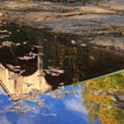Reflection Of Montgomery Covered Bridge Art Print
