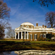 Reflection Of Monticello Art Print