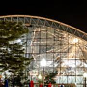 Reflection Of Navy Pier Ferris Wheel Art Print
