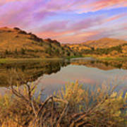 Reflection Of Scenic High Desert Landscape In Central Oregon Art Print