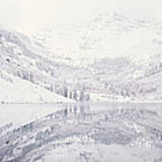 Reflection Of Snowcapped Mountains Art Print