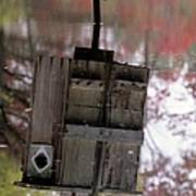 Reflection Of Wood Duck Box In Pond Art Print