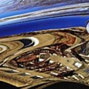 Reflection On A Parked Car 11 Art Print