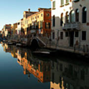 Reflection On The Cannaregio Canal In Venice Art Print