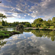 Reflection On The Poudre River Art Print