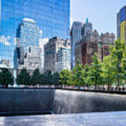 Reflections At 911 Memorial Art Print