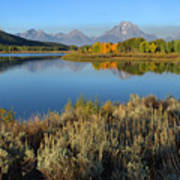 Reflections At Oxbow Bend Art Print