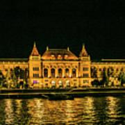 Reflections From Budapest University Art Print