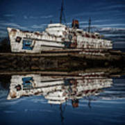 Reflections From The Duke Of Lancaster Ship  Art Print