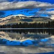 Reflections In Lake Beauvert Art Print