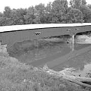 Reflections In Sugar Creek Indiana Black And White Art