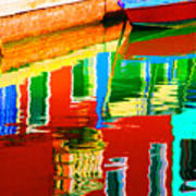 Reflections Near The Red Hull Art Print