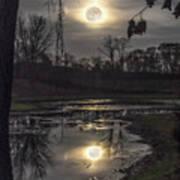 Reflections Of A Super Moon Art Print