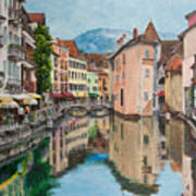 Reflections Of Annecy Art Print