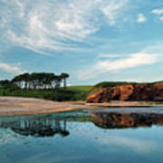 Reflections Of Budleigh Art Print