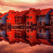 Reflections Of Groningen Art Print