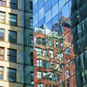 Reflections Of Manhattan Art Print