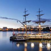 Reflections Of Tall Ships Art Print