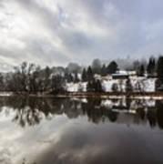 Reflections Of Winter Flood Art Print