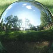 Reflections On A Steel Sphere Art Print