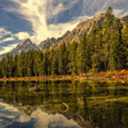 Reflections On Jenny Lake Art Print