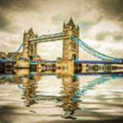 Reflections On Tower Bridge Art Print