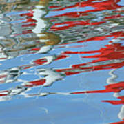 Reflections - Red White Blue Art Print