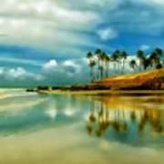 Reflective Beach Art Print