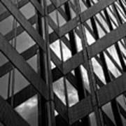 Reflective Glass And Metal Building Art Print