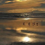Reflective Sunset Art Print
