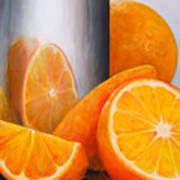 Reflet Orange Art Print